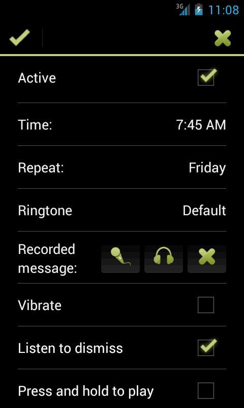 recording alarm clock