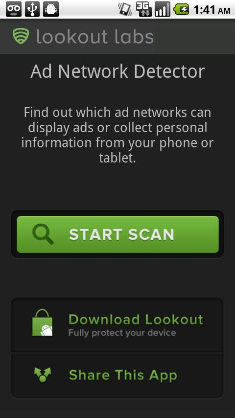 ad network scanner and detector