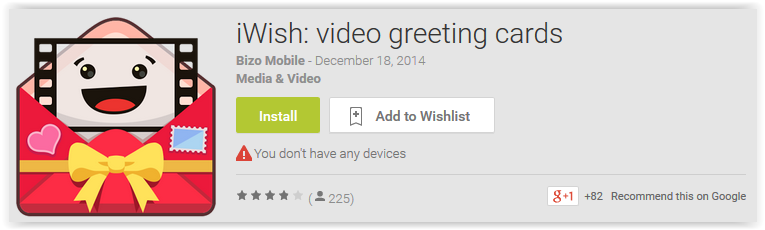 iWish video greeting cards