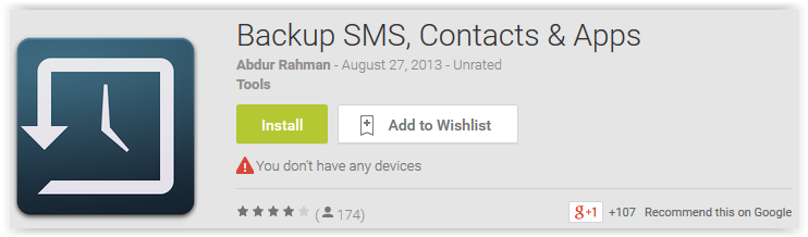 Backup SMS, Contacts & Apps