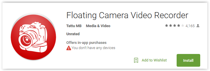 Floating Camera Video Recorder