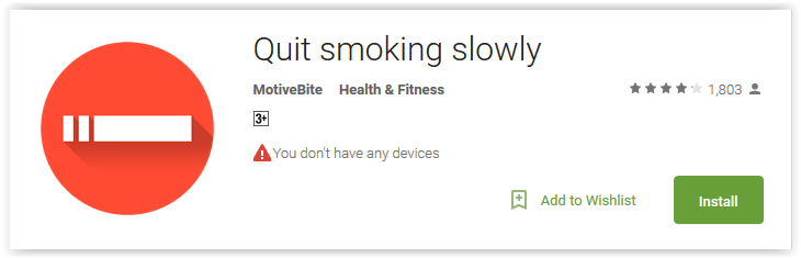 Quit smoking slowly