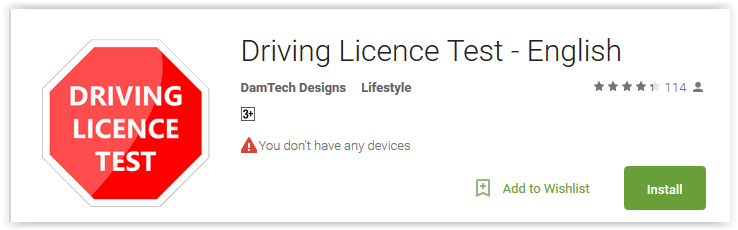top 7 driving license test apps for android