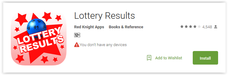 Lottery Results by Red Knight