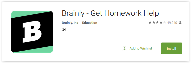 Brainly homework help