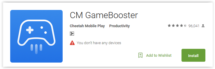 CM GAmeBooster Android App