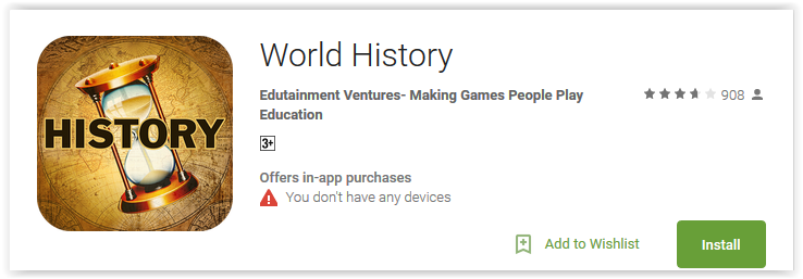 Top 7 Best World History Apps for android