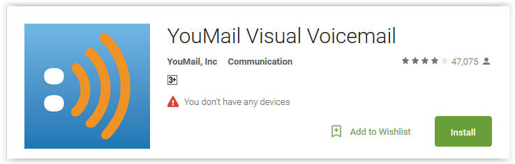 Top 7 visual voicemail apps for android youmail visual voicemail android app m4hsunfo Image collections