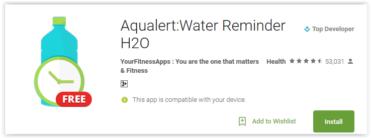 Aqualert Water Reminder H2O