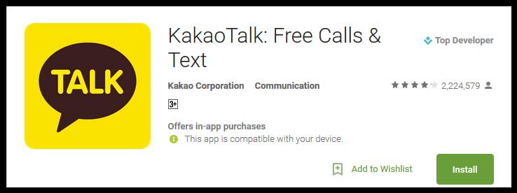 Kakao Talk Free Calls & Text