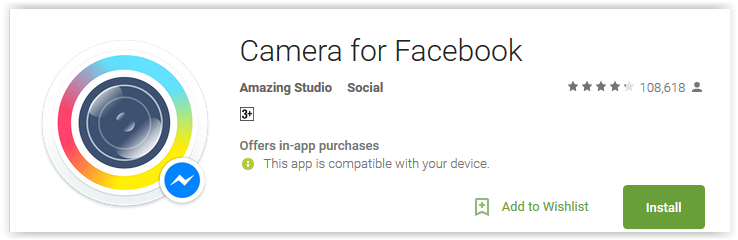 Top 7 fastest facebook apps for android for Facebook camera