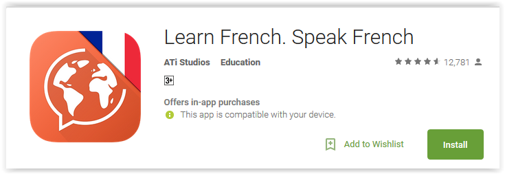 Learn French. Speak French