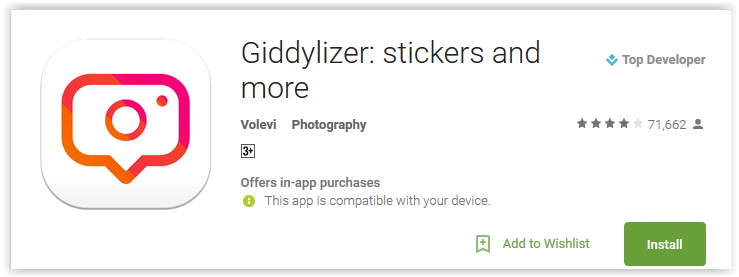 Giddylizer stickers and more