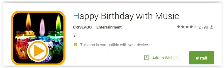 Happy Birthday with Music