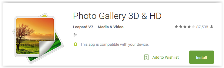 Photo Gallery 3D & HD