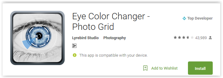 Eye Color Changer - Photo Grid