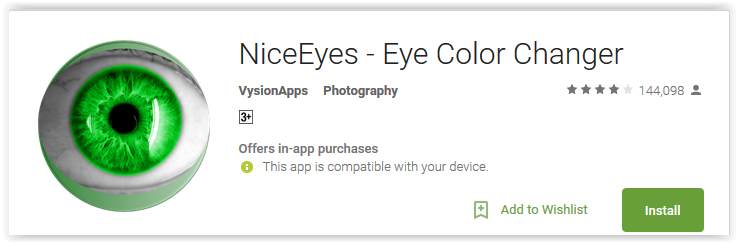 NiceEyes - Eye Color Changer