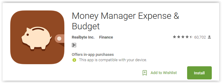 Money Manager Expense & Budget
