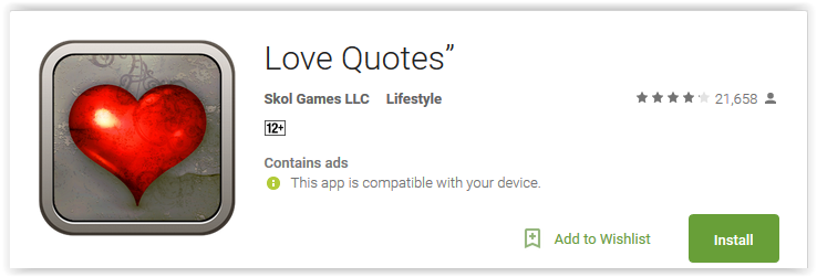 Love Quotes App Interesting Top 48 Love Quotes Apps For Android Give Words To Your Feelings